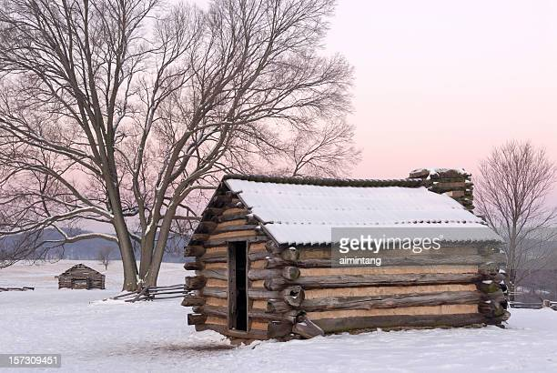 winter landscape at valley forge - american troops at valley forge stock pictures, royalty-free photos & images