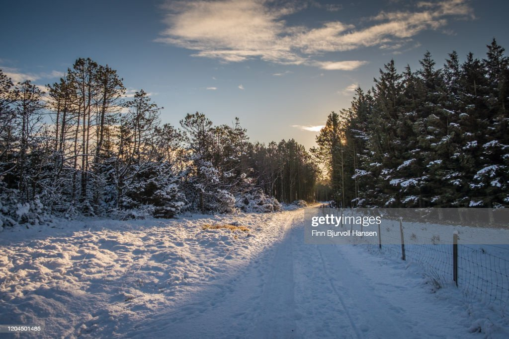 Winter landscape from Lista in Norway : Stock Photo