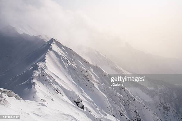 winter landscape in the mountains - deep snow stock pictures, royalty-free photos & images