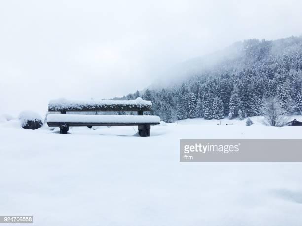 Winter landscape in Upper Bavaria, Berchtesgadener land (Germany)