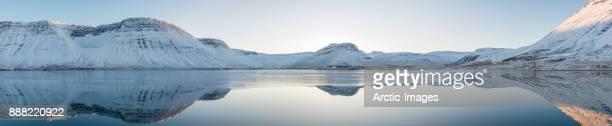 Winter Landscape, Isafjordur, West Fjords, Iceland