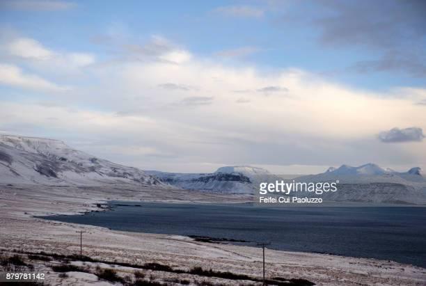 Winter landscape Near Borgarnes, West Iceland