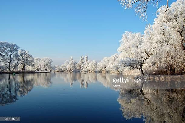 winter-Landschaft in einem Fluss