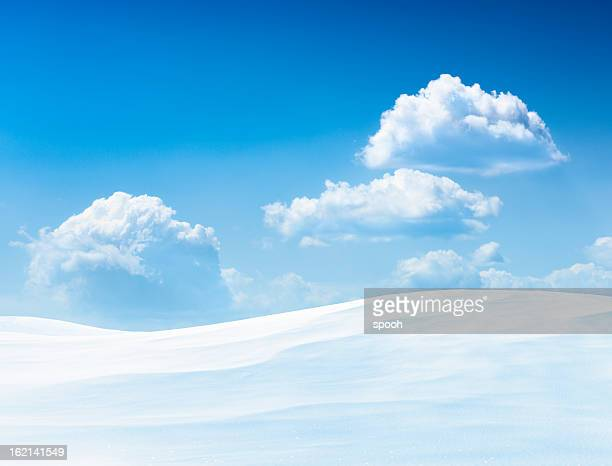 winter landscape - hill stock pictures, royalty-free photos & images