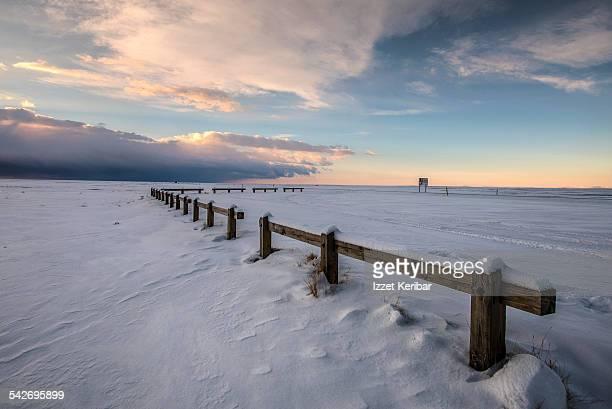 Winter landscape southern Iceland