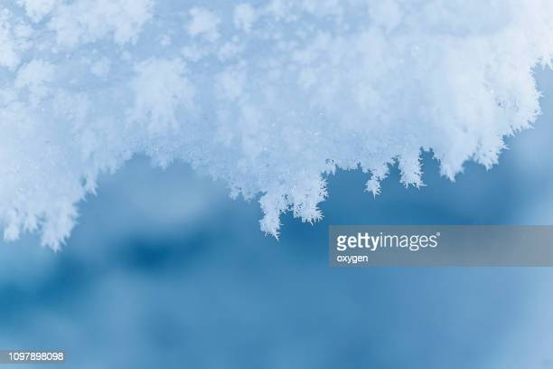 winter landscape with snow background - frost stock pictures, royalty-free photos & images