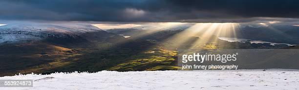 Winter light over Keswick, Lake District