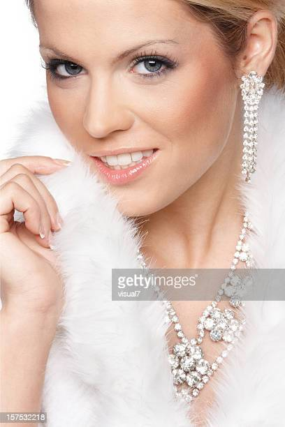 winter, luxury woman - skin diamond stock pictures, royalty-free photos & images