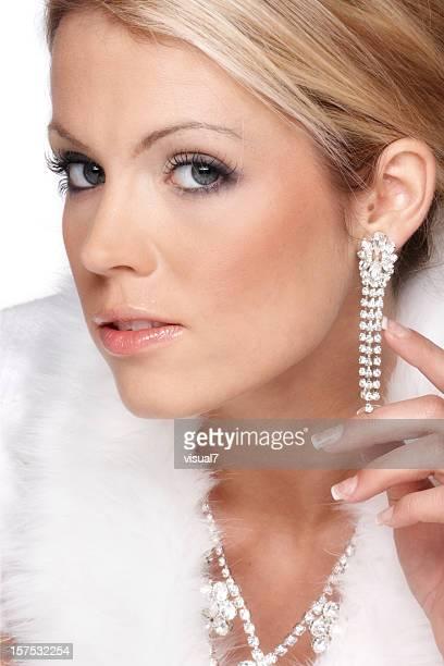 hiver femme de luxe - skin diamond photos et images de collection