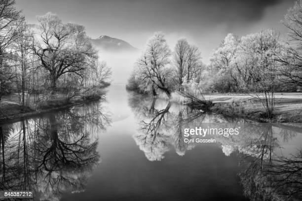 A winter morning at river Loisach