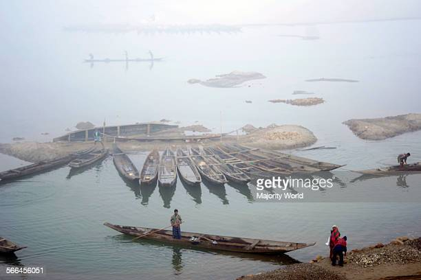 A winter morning on the Dauki river in Sylhet Bangladesh January 18 2010 The river originates from a mountain in the Himalayas and as it courses...