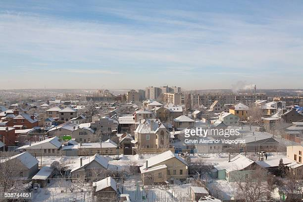 winter morning. - volgograd stock pictures, royalty-free photos & images
