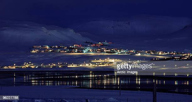 Winter, Mosfellsbaer town, Iceland