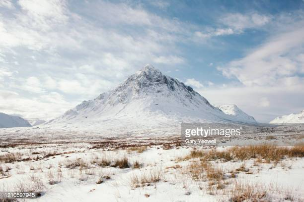 winter mountain landscape - land stock pictures, royalty-free photos & images
