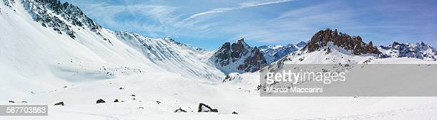 Winter mountain panoramic view