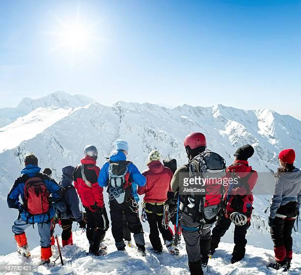 winter Bergsteigen