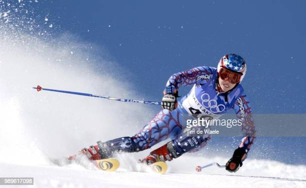 Salt Lake City 02/22/02 Park City Utah United States Alexandra Shaffer Of The Usa During Her First Run In The Ladies' Giant Slalom During Competition...