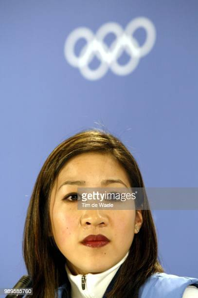 Salt Lake City 02/8/02 Salt Lake City Utah United States Us Figure Skater Michelle Kwan At A Press Appearance By The Us Women'S Team Friday Before...