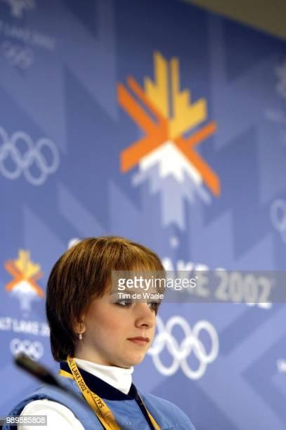 Salt Lake City 02/8/02 Salt Lake City Utah United States Us Figure Skater Sarah Hughes At A Press Appearance By The Us Women'S Team Friday Before The...
