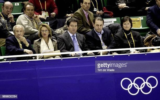 Salt Lake City 2/14/02 Salt Lake City Utah United States Former International Olympic Committee Chairman Juan Antonio Samaranch And His Wife Are...