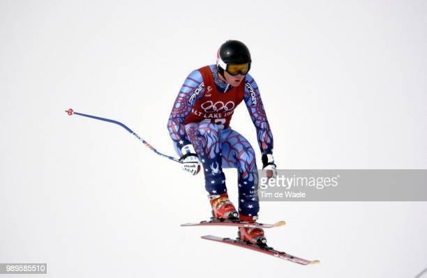 Salt Lake City 2/7/2002 Salt Lake City Utah United States Jakub Fiala During The 2002 Olympic Winter Games Men'S Downhill Training Photo By Tim De...