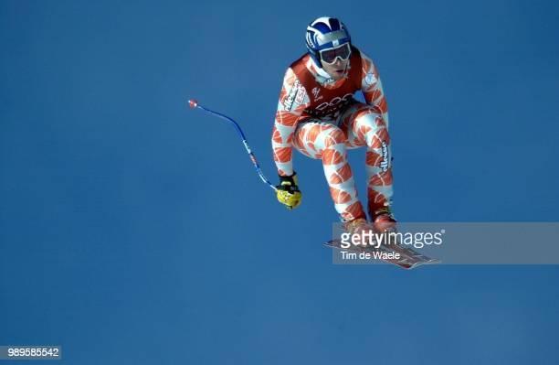 Salt Lake City 2/9/02 Huntsville Utah United States PierreEmmanuel Dalcin Of France During The Second Training Run For The Men'S Downhill Alpine...