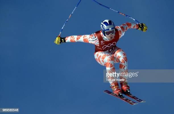 Salt Lake City 2/9/02 Huntsville Utah United States Claude Cretier Of France During The Second Training Run For The Men'S Downhill Alpine Skiing...