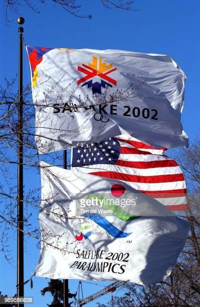 Salt Lake City Illustration Illustratie Drapeau Flag Vlag /2/9/2002 Salt Lake City Utah United States During The 2002 Olympic Winter Games Photo By...