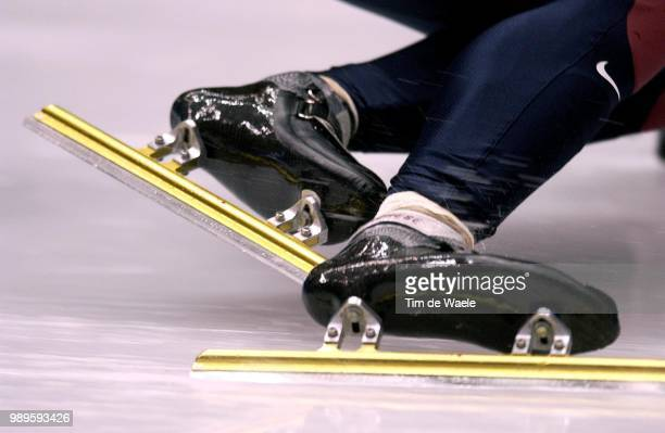 Salt Lake City Illustration Patin Schaats Skate Illustratie 2/13/02 Salt Lake City Utah United States Apolo Anton Ohno In The Men'S Short Track 1000M...