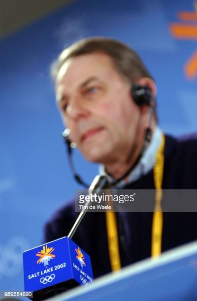 Salt Lake City Rogge Jacques Ioc Cio President Voorzitter International Olympic Comite Internationaal Olympisch Comite Olimpique Conference Presse...