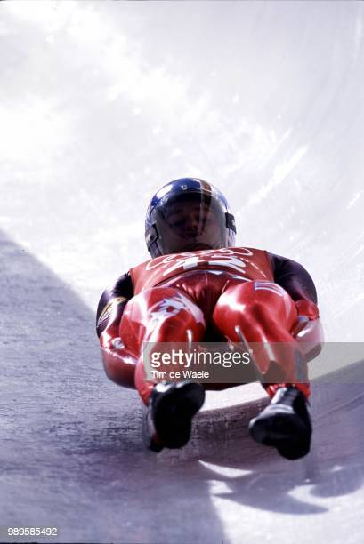 Salt Lake City Tony Benshoof During A Practice Run For The Men'S Singles Luge At The 2002 Olympic Winter GamesJeux Olympiques D'Hiver Olympische...