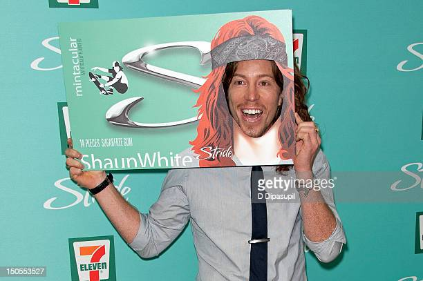 Winter Olympic gold medalist Shaun White attends the Stride Mintacular launch at 7-Eleven on August 21, 2012 in New York City.