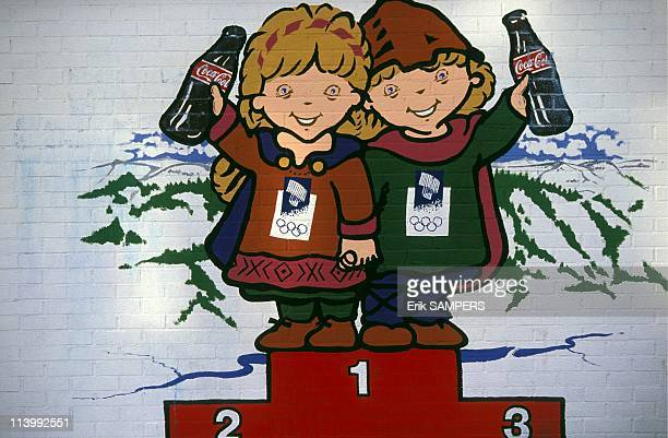 Winter Olympics 1994 in Lillehammer oneyear countdown In Lillehammer Norway On February 12 1993Mascots Hakon and Christina