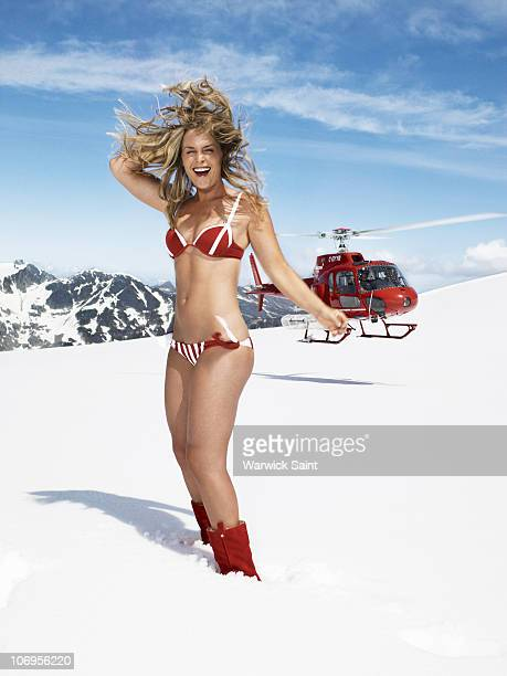 Portrait of Winter Olympics Team USA alpine skiing athlete Lindsey Vonn during photo shoot at Whistler Blackcomb in British Columbia Canada 7/9/2009...