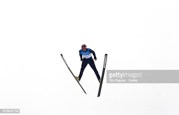 Winter Olympics Vancouver 2010 Magnus H Moan Norway in action during the Nordic Combined Ski Jumping at The Whistler Olympic Park Whistler during the...