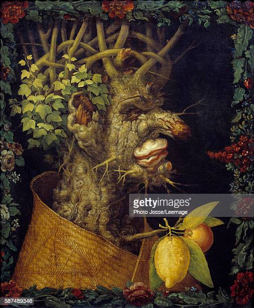 Winter Painting by Giuseppe Arcimboldo oil on canvas 1573 Musee du Louvre Paris France