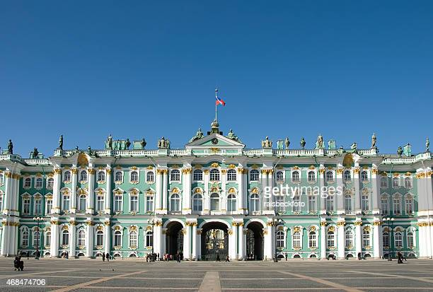 winter palace, st. petersburg / зимний дворец, санкт-петербург - st. petersburg russia stock photos and pictures
