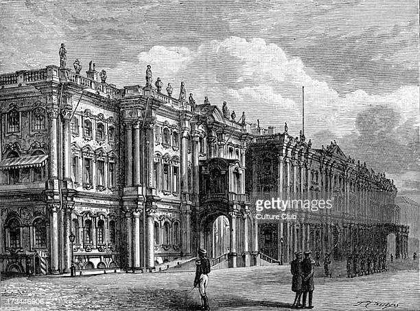 Winter Palace St Petersburg Russia 1877 Constructed 1 7541762 by architect Bartolomeo Francesco Rastrelli