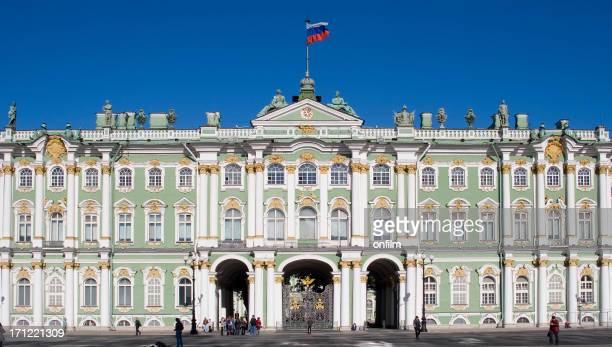 winter palace, st petersburg, russia - winter palace st. petersburg stock photos and pictures