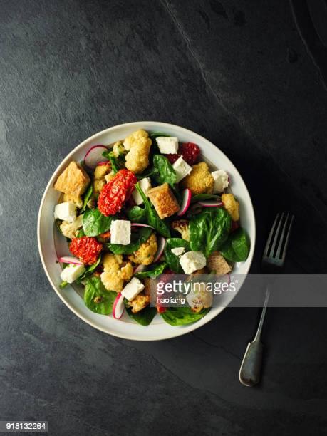 Winter Panzanella salad