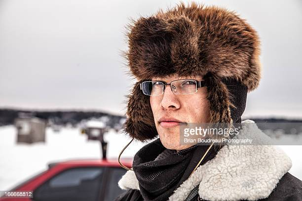 winter - handsome native american men stock pictures, royalty-free photos & images