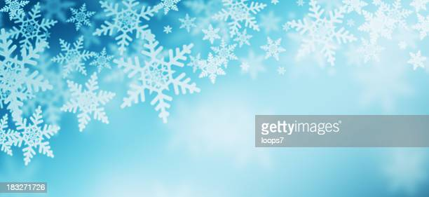 winter - snowflake background stock photos and pictures