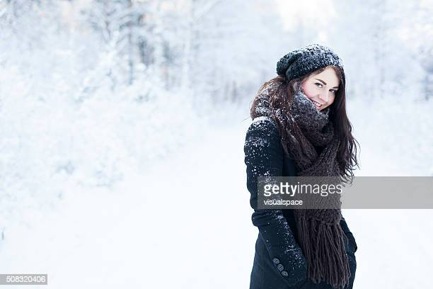 winter portrait - northern european descent stock pictures, royalty-free photos & images