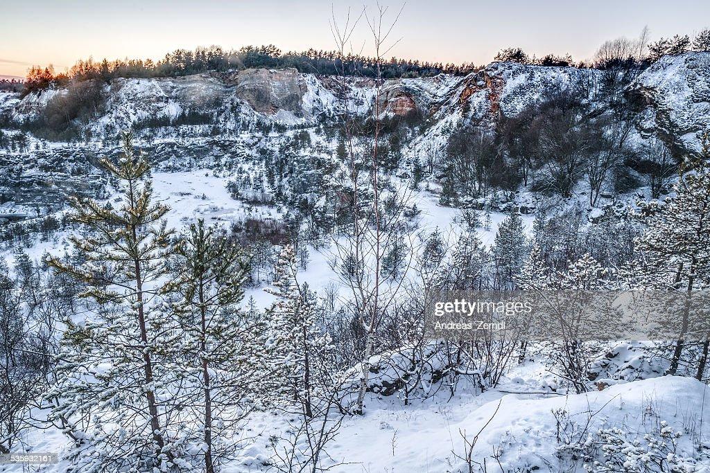 Winter Quary : Stock Photo