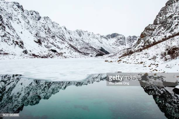 Winter Reflection in the Lofoten islands
