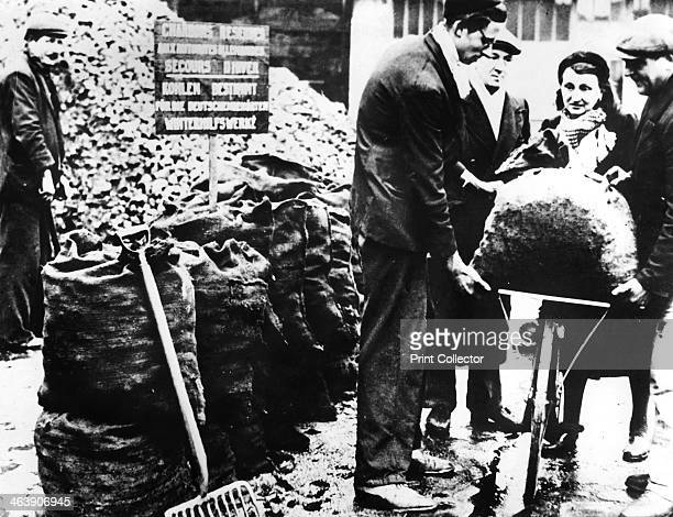 Winter relief distribution of coal France 19401944 The majority of French coal was exported to Germany during the occupation to fuel the German war...