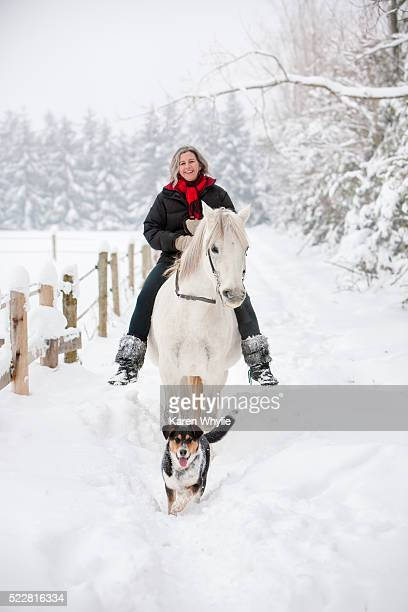 Winter Riding - Hacking in Deep Snow