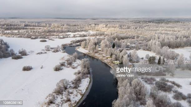 winter river - eastern european stock pictures, royalty-free photos & images