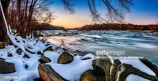 winter river - richmond virginia stock pictures, royalty-free photos & images