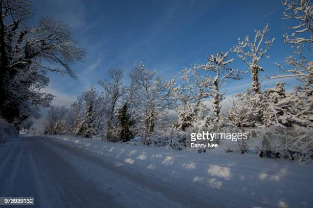 winter road - nee nee stock photos and pictures